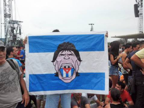Flags in Rolling Stones Havana Concert