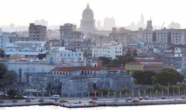 Havana's capitol in the background