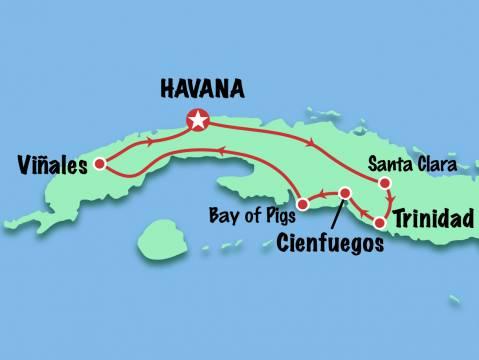 Map 9 Days Essential Tour