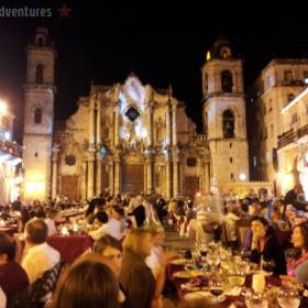 New Year's Eve party Havana's Cathedral Square
