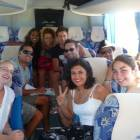 Onboard one of our private minibuses in Cuba