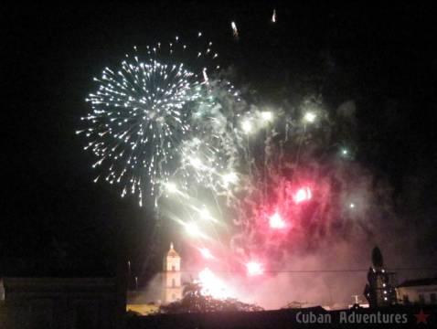 Parrandas de Remedios fireworks