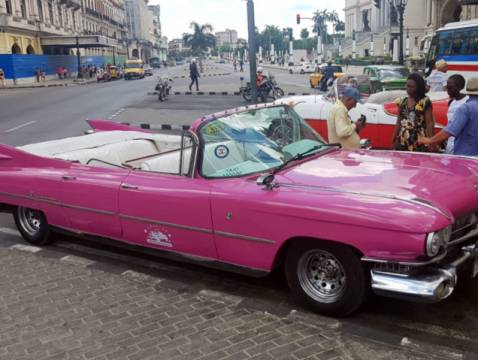 The real thing. A 1950's Pink Cadillac in Havana.
