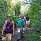 Walking through the dense forest on the Bay of Pigs